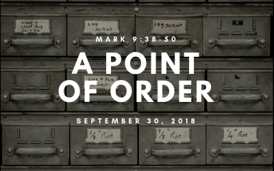 September 30, 2018: A Point of Order
