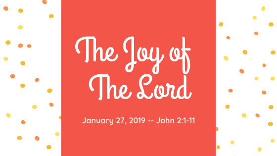 January 27, 2019: The Joy of the Lord